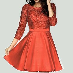 NWT 3/4 Sleeve Lace dress Red size XS Jade Sz XL